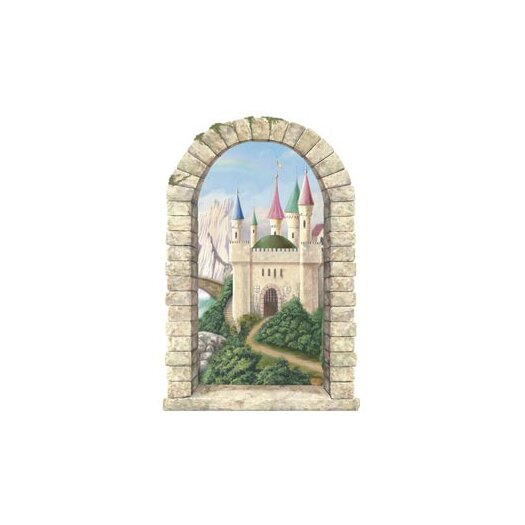 4 Walls Enchanted Kingdom Mountainview Castle Window Wall Decal