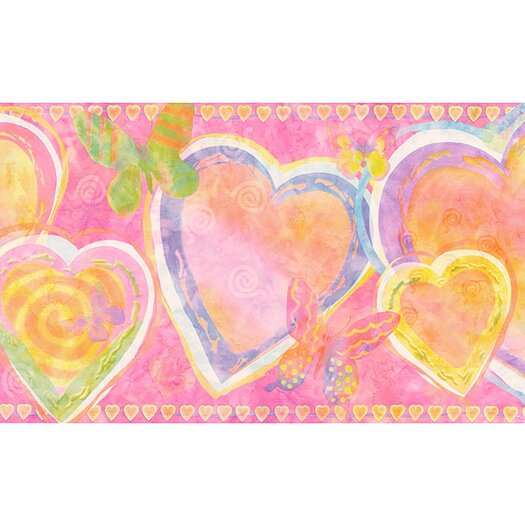 4 Walls Whimsical Children's Vol. 1 Heart Wallpaper Border