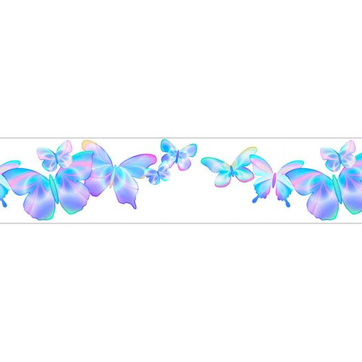 4 Walls Fluttering Butterflies Free Style Wallpaper Border