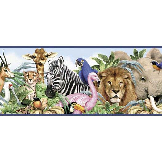 4 Walls Jungle Animals Wallpaper Border