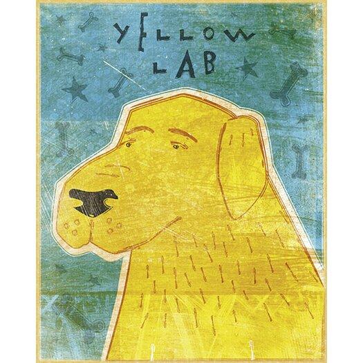 4 Walls Top Dog Yellow Lab Wall Decal