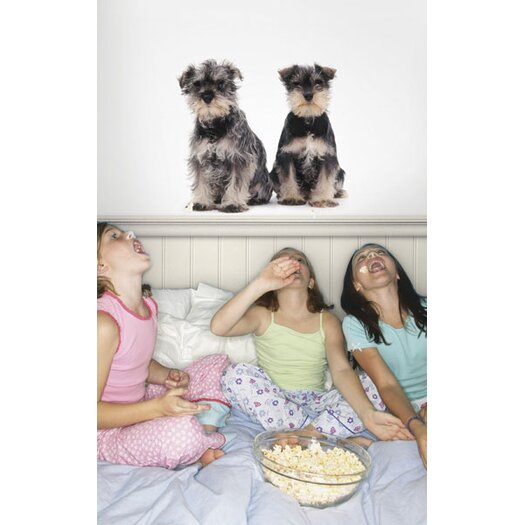 4 Walls Puppy Love Miniature Schnauzers Wall Decal