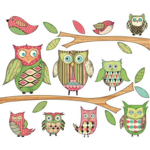4 Walls Owls Wall Decal