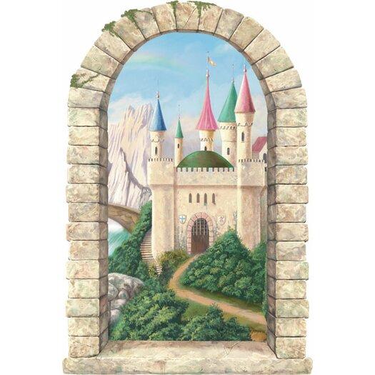 4 Walls Castle Window Main Gate Wall Decal