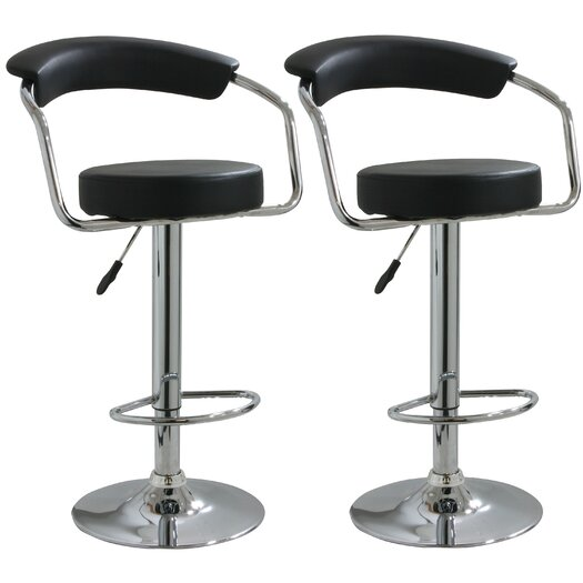 Buffalo Tools Adjustable Height Swivel Bar Stool with Cushion