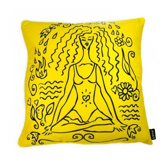 lava Lava Yoga Girl Pillow