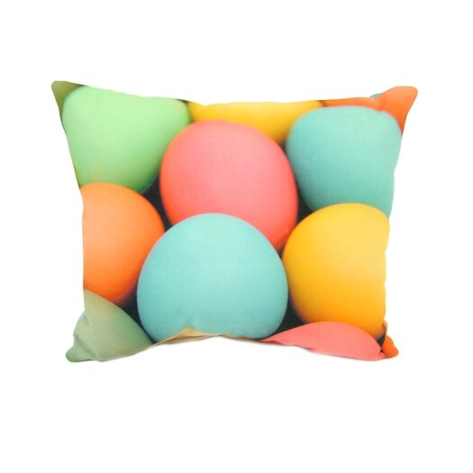 lava Colored Eggs Pillow