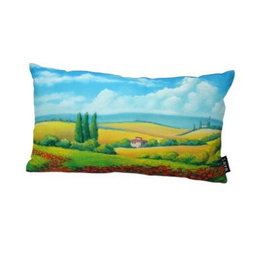 lava Poppy Field Pillow