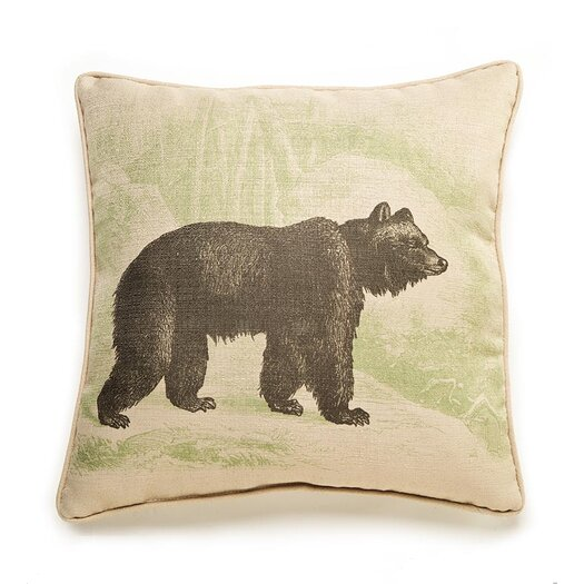 lava Lava Bear Etching Pillow