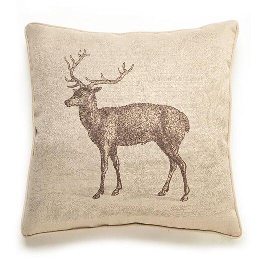 lava Lava Deer Etching Throw Pillow