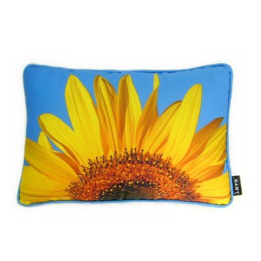 lava Sunflower Sky Pillow