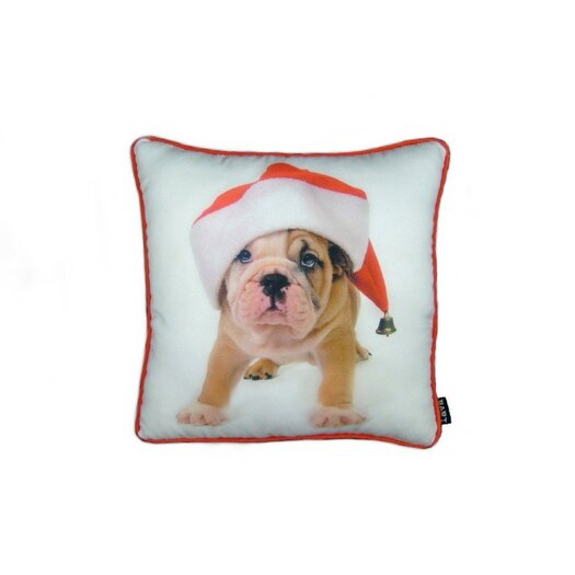 lava Holiday Bulldog Puppy Pillow