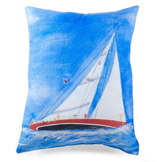 lava Sailboat Painted Pillow