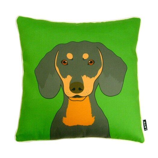 lava Dachshund Polyester Pillow