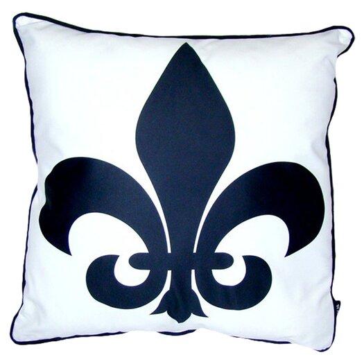lava Fleur De Lis Feather Filled Pillow