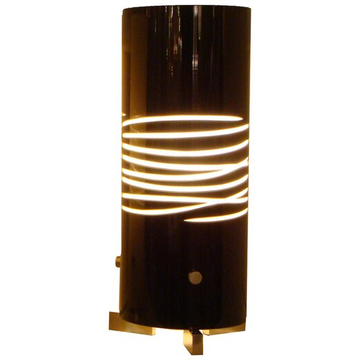 """Oggetti Dune Due 12.5"""" H Table Lamp with Drum Shade"""