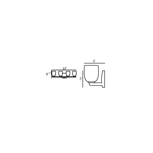 Oggetti Bimbi 4 Light Bathroom Strip