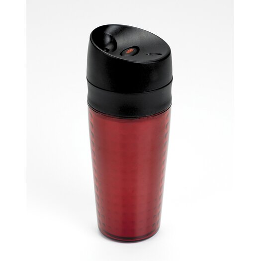 OXO Liquiseal Travel Mug - Plastic (Textured) - Red