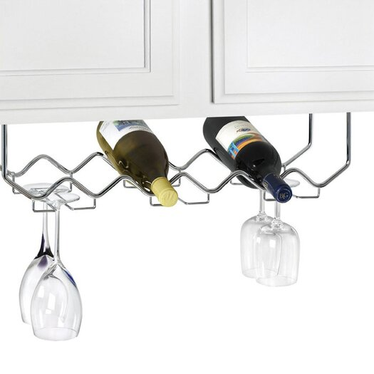 Spectrum Diversified 6 Bottle Hanging Wine Rack