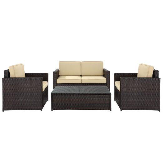 Crosley Loon Harbor 4 Piece Deep Seating Group with Cushions