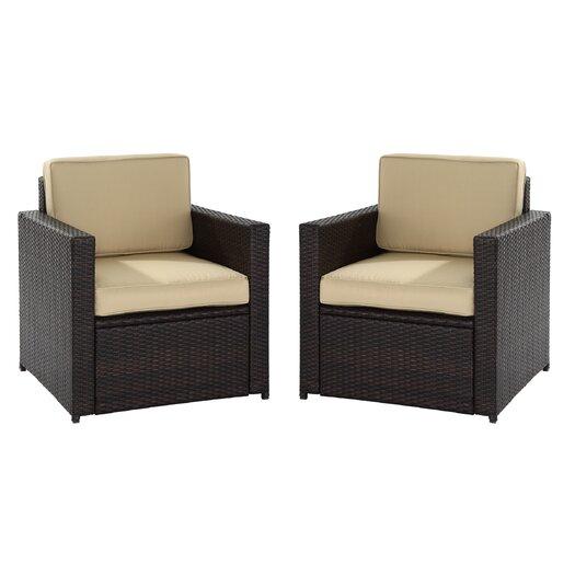 Crosley Palm Harbor 2 Piece Deep Seating Group with Cushions
