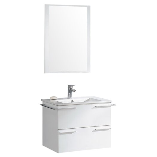"Fresca Cielo 24"" Single Modern Bathroom Vanity Set with Mirror"