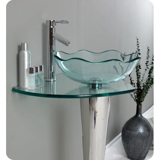 """Fresca Vetro Netto 24"""" Modern Bathroom Vanity Set"""