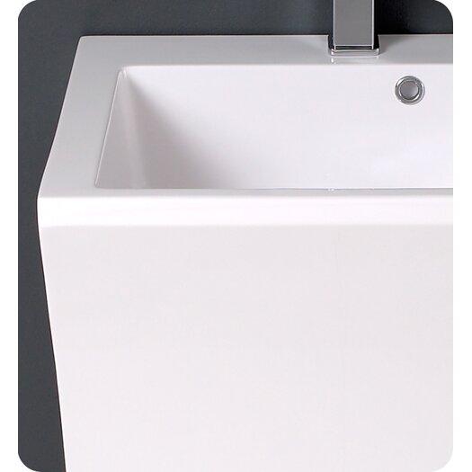 "Fresca Quadro 23"" Pedestal Sink Vanity Set with Single Sink"