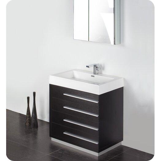 "Fresca Senza 30"" Single Livello Modern Bathroom Vanity Set"