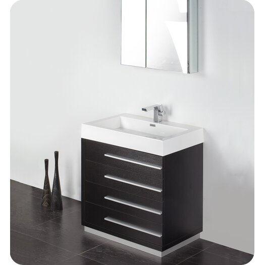 "Fresca Senza 30"" Livello Modern Bathroom Vanity Set with Single Sink"