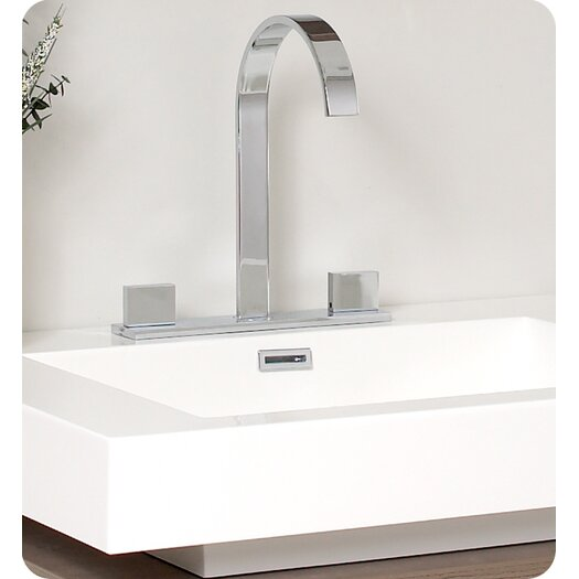 "Fresca Senza 26.75"" Fresca Potenza Modern Bathroom Vanity Set with Mirror and Pop Open Drawer"