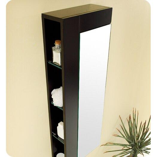 "Fresca 13.75"" x 39.25"" Bathroom Linen Cabinet"