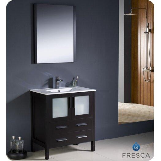 """Fresca Torino 29.9"""" Modern Bathroom Vanity Set with Undermount Sink"""