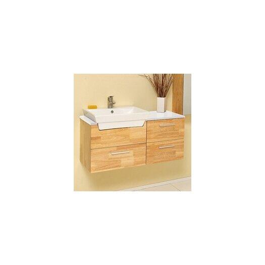 "Fresca Stella 36"" Single Caro Modern Bathroom Vanity Set with Mirror"