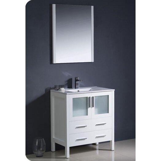 "Fresca Torino 30"" Modern Bathroom Vanity Set with Single Sink"
