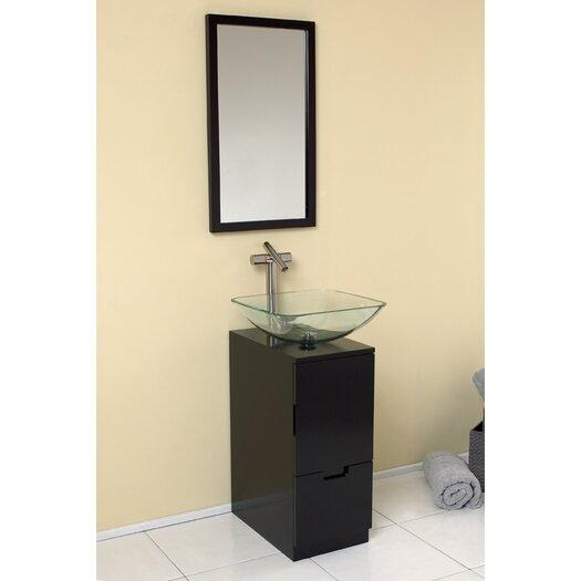 "Fresca Stella 17"" Brilliante Modern Bathroom Vanity Set with Mirror"