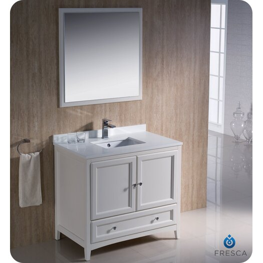 "Fresca Oxford 36"" Traditional Bathroom Vanity Set with Single Sink"