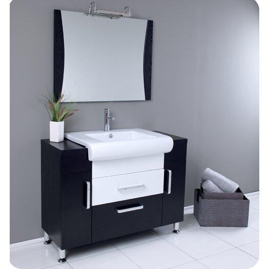 "Fresca Nero Vita 44"" Modern Bathroom Vanity Set with Single Sink"