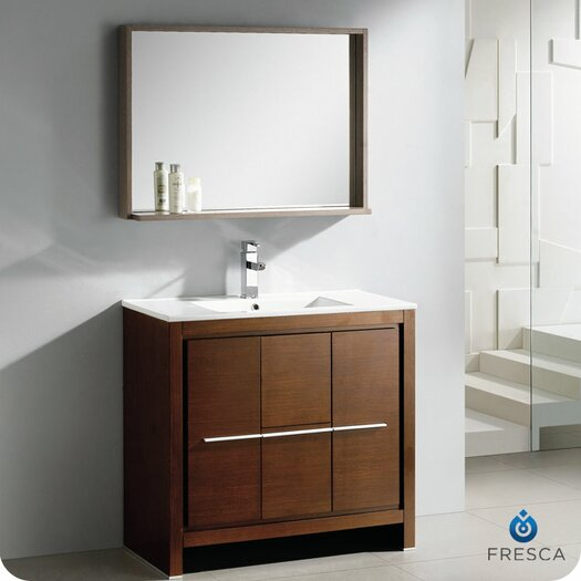 "Fresca Allier 36"" Single Modern Bathroom Vanity Set with Mirror"