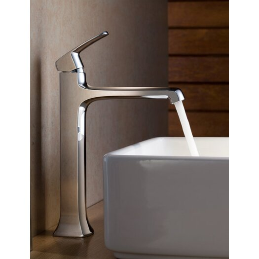 Fresca Verdura Single Handle Deck Mount Vessel Faucet