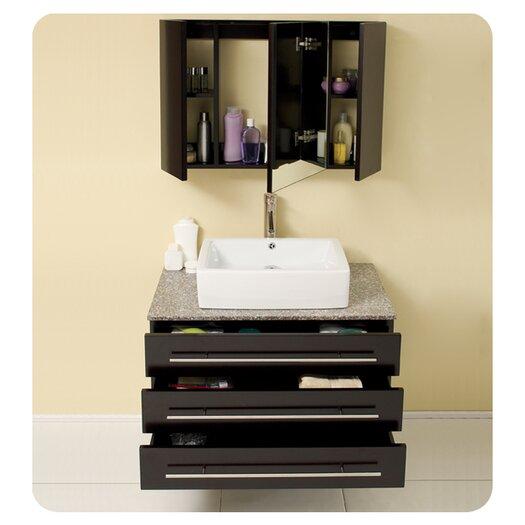 "Fresca Stella 31.75"" Modello Modern Bathroom Vanity Set with Medicine Cabinet"