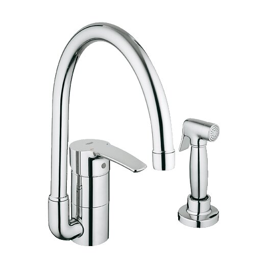 Grohe Eurostyle Single Handle Single Hole Kitchen Faucet with Side Spray