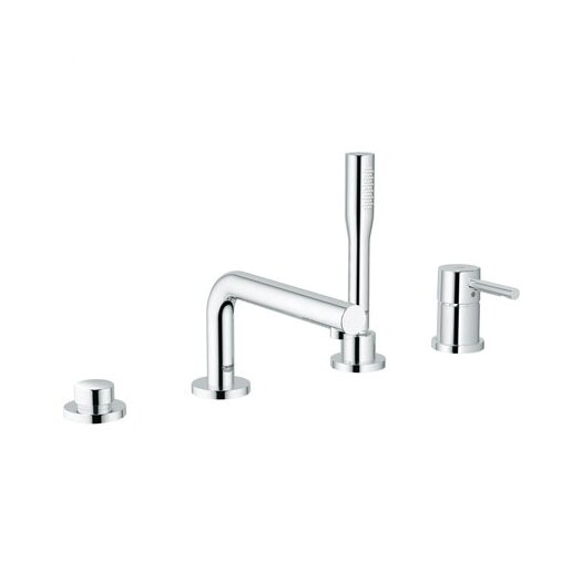 Grohe Essence Single Handle Deck Mount Roman Tub Filler Trim Faucet Lever Handle with Handshower