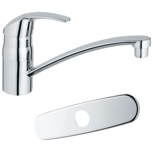 Grohe Eurosmart Single Handle Single Hole Swivel Kitchen Faucet with Spout with Water Care