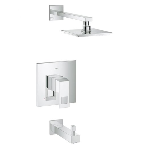 Grohe Eurocube Volume Control Tub and Shower Faucet