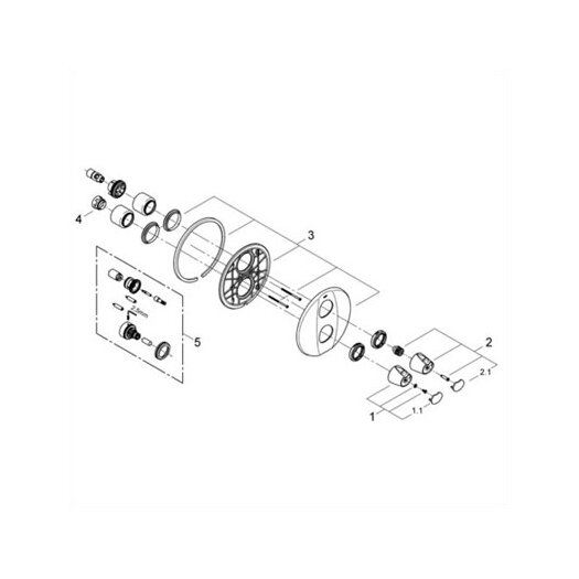 Grohe Grohtherm 3000 Integrated Volume and Thermostatic Control Trim