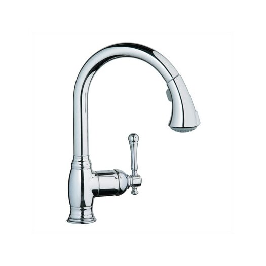 Grohe Bridgeford Dual Spray Pull Out Kitchen Faucet