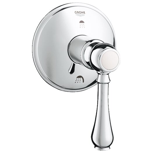 Grohe Geneva Three Port Diverter Trim with Lever Handle in Chrome
