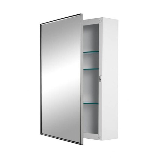 "Broan Styleline 16.13"" x 22.13"" Surface Mount Medicine Cabinet"