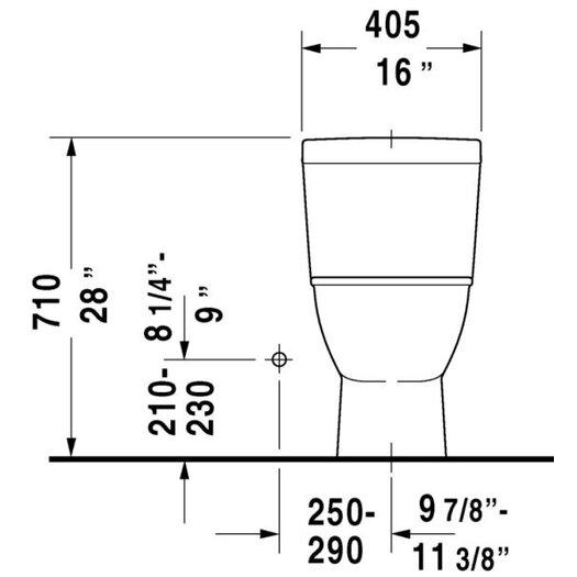 Duravit Darling New Elongated 1 Piece Toilet
